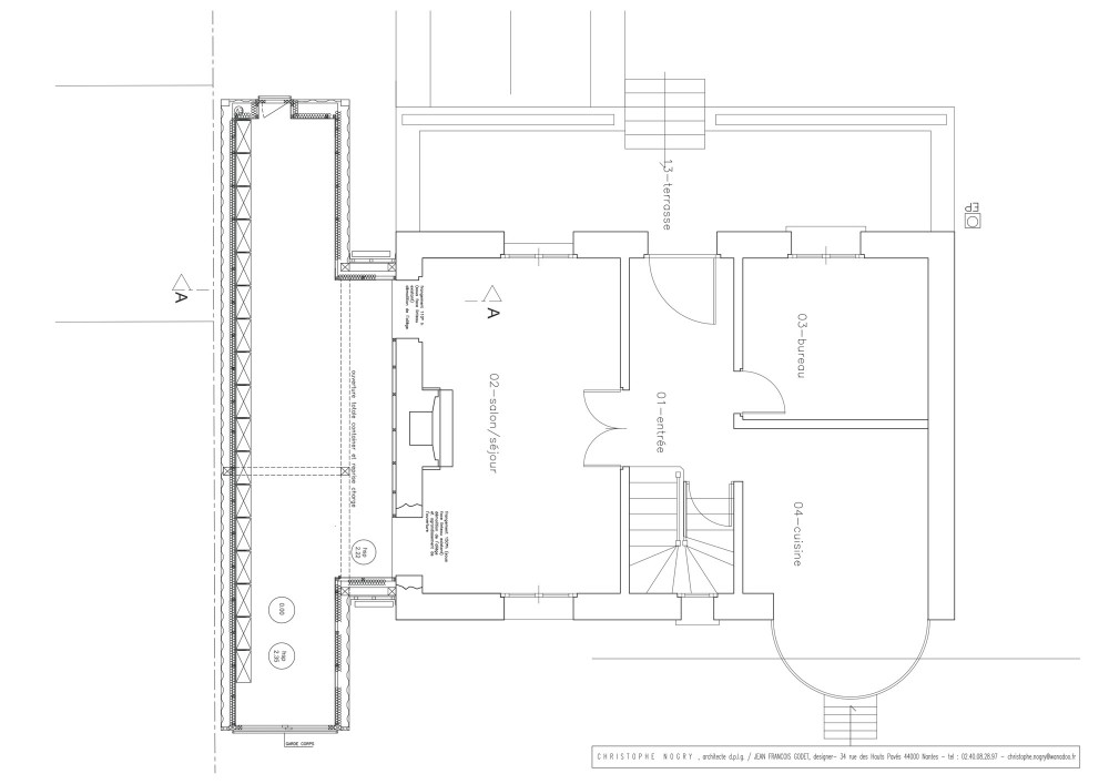 House extension - Christophe Nogry ground floor plan