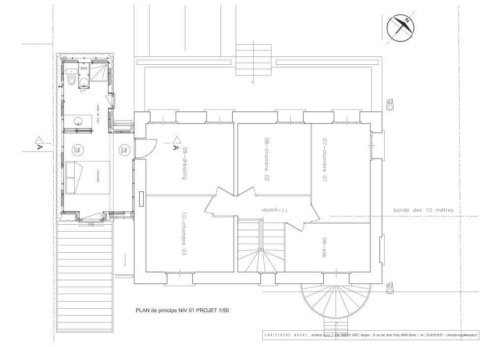 House extension - Christophe Nogry second floor plan