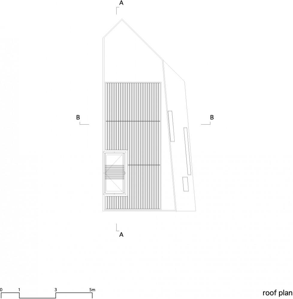 House in Matsubara - Ken'ichi Otani Architects roof plan