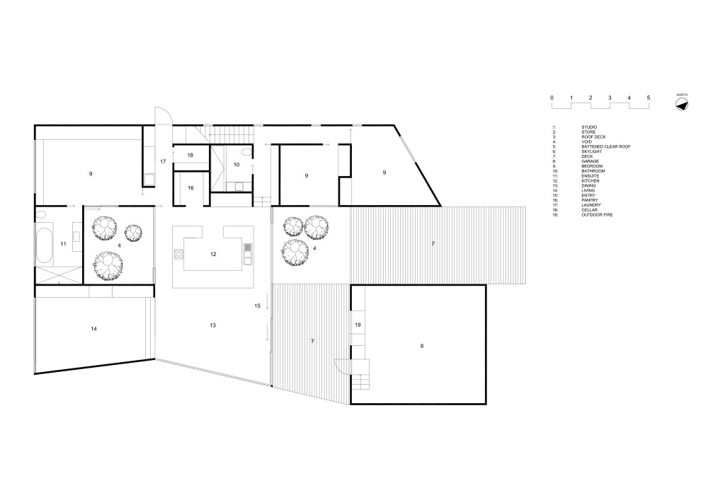 Allens Rivulet House - Room11 ground floor plan