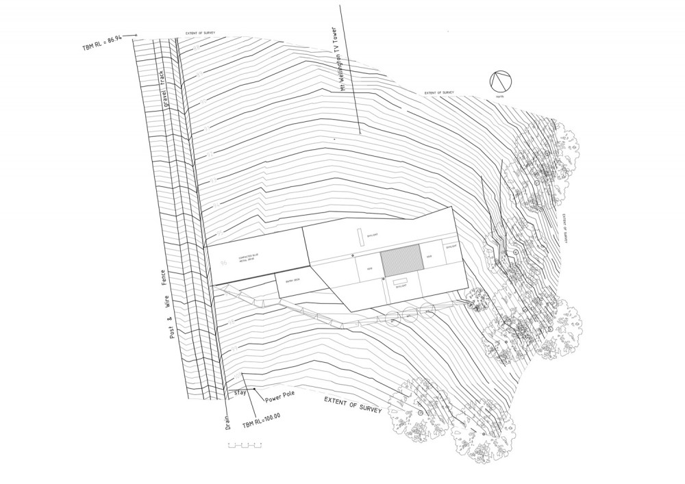 Allens Rivulet House - Room11 site plan