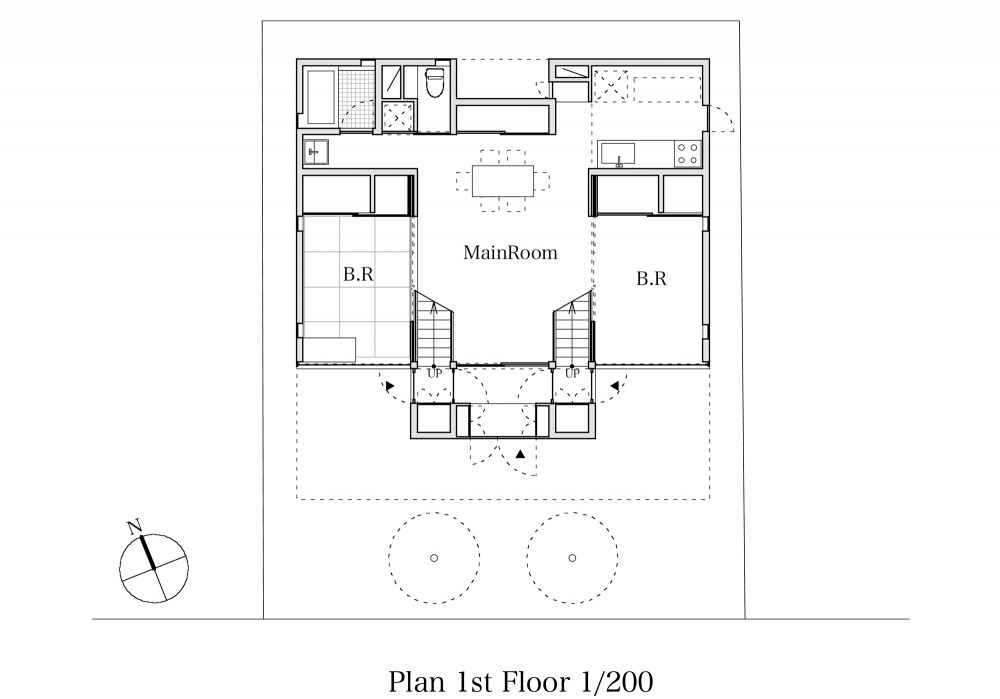 TTN House - Miyahara Architect Office first floor plan