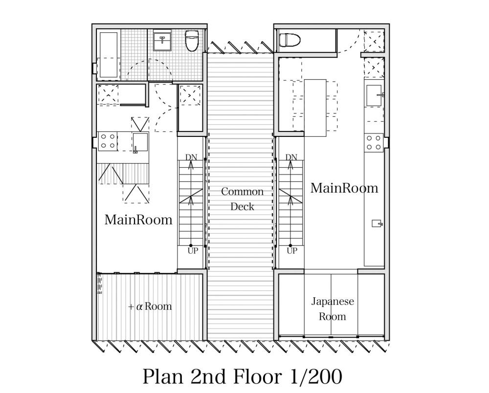TTN House - Miyahara Architect Office second floor plan