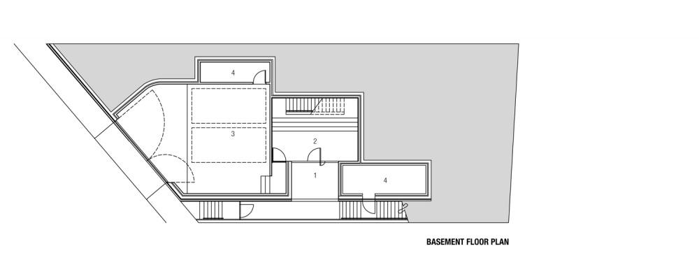 Freshwater House - Chenchow Little basement floor plan