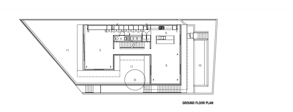 Freshwater House - Chenchow Little ground floor plan