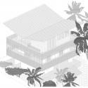 Tropical House - Camarim Architects axo