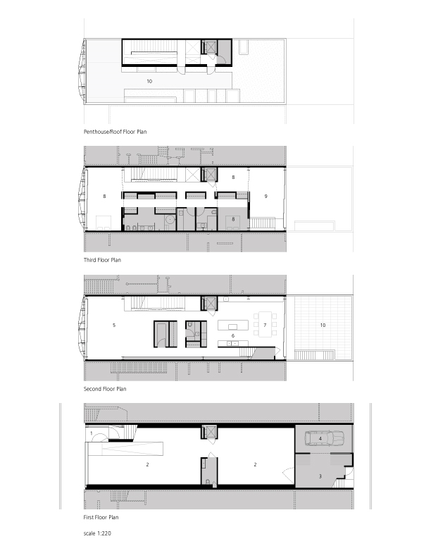 Gallery House - Ogrydziak Prillinger Architects floor plans
