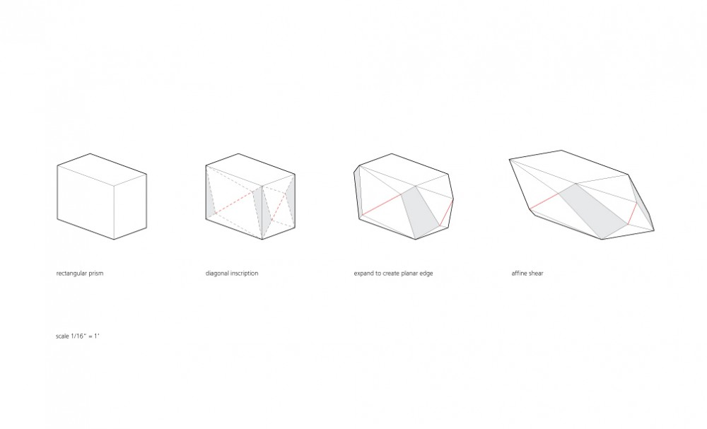 Gallery House - Ogrydziak Prillinger Architects plinth diagrams