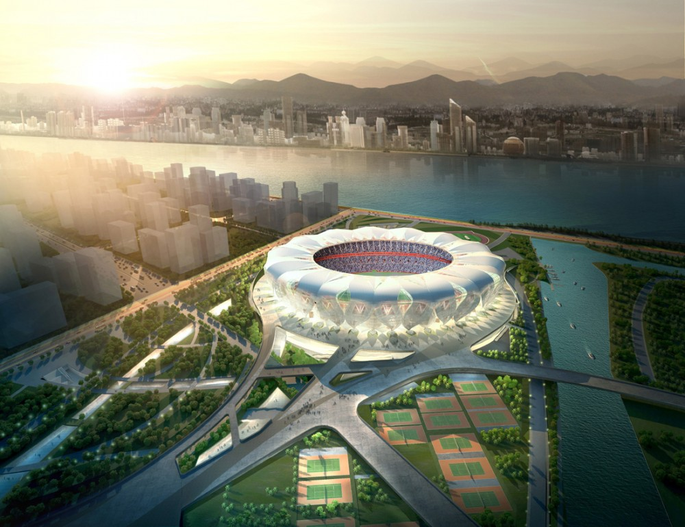 NBBJ and CCDI Break Ground on Hangzhou Sports Park