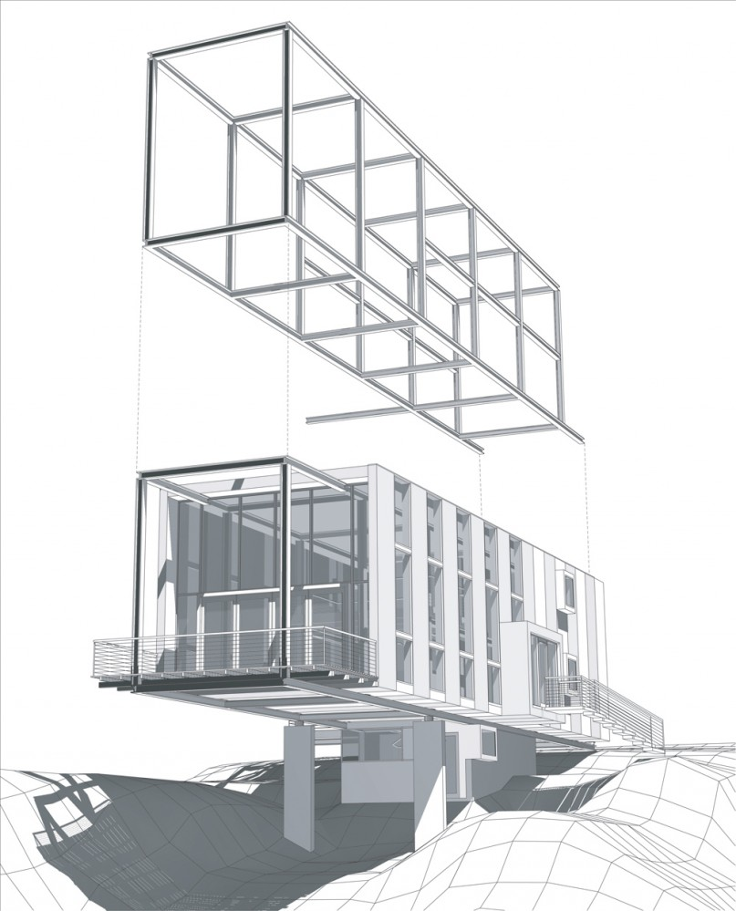 Architecture Photography Cantilever House Anderson