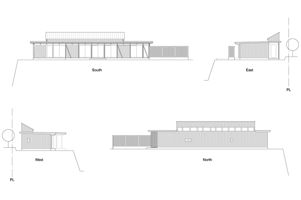 B House - Anderson Anderson Architecture - Nishiyama Architects elevations