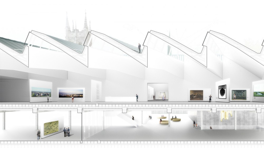 Musée National des Beaux Arts du Québec proposal / Barkow Leibinger Architekten with Barkow Leibinger Architects, Berlin with Imrey Culbert Architects
