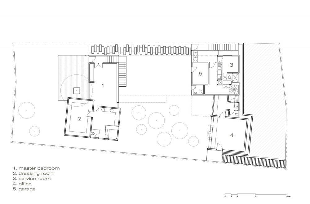 Torres House - GLR Arquitectos basement plan