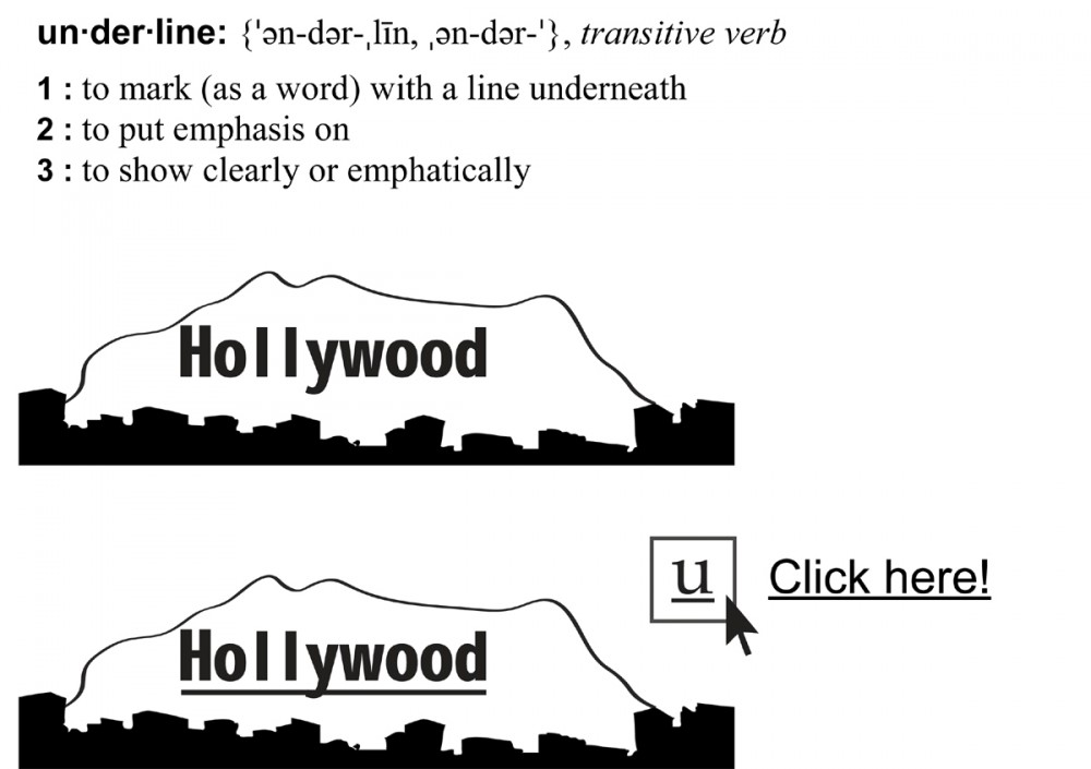 Hollywood un-der-lined
