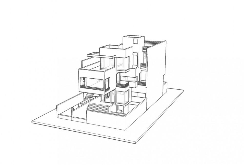 Gairola House - Anagram Architects axo