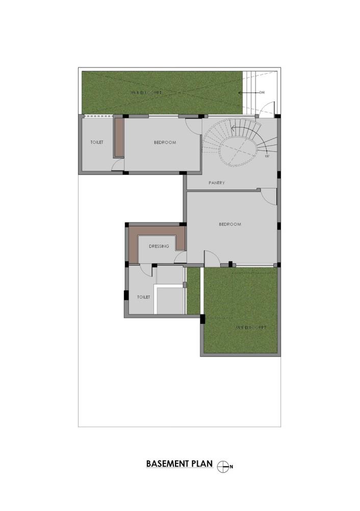 Gairola House - Anagram Architects basement floor plan