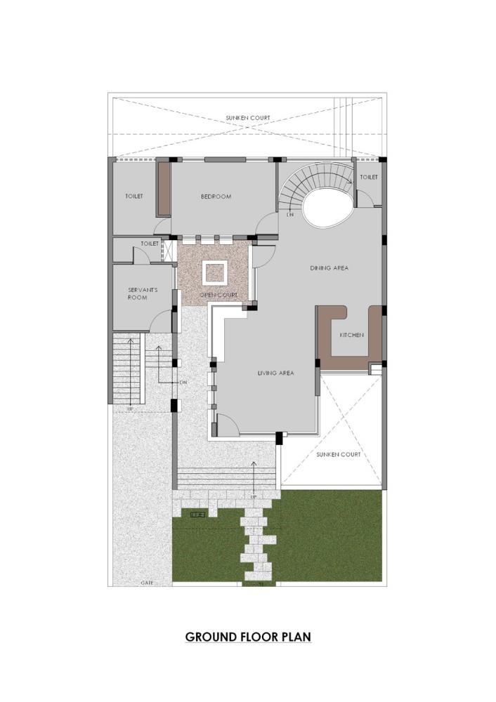 Gairola House - Anagram Architects ground floor plan