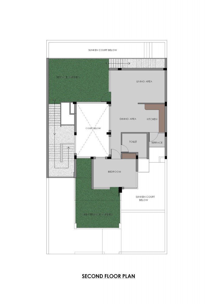 Gairola House - Anagram Architects second floor plan