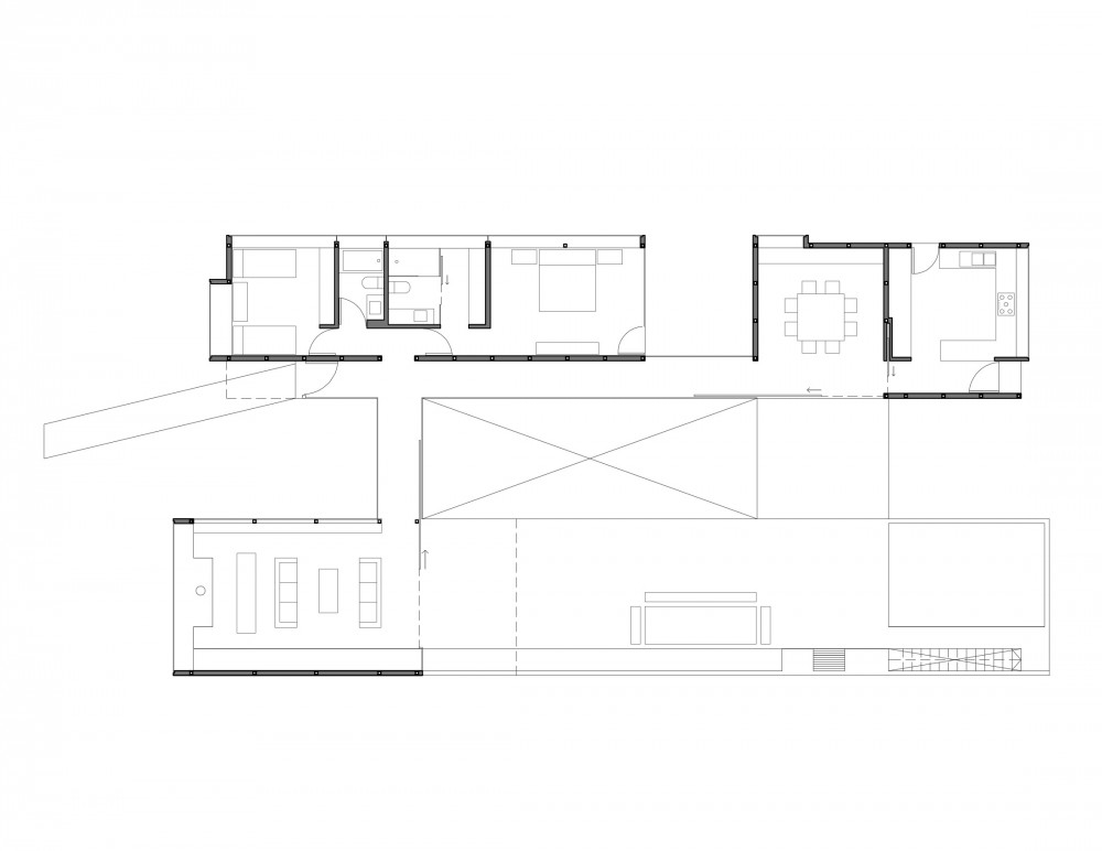 Los Molles House - Oltmann Ahlers W. - Oltmann Ahlers G. - dRN Arquitectos level 01 plan