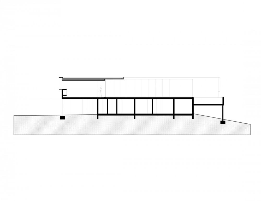 Los Molles House - Oltmann Ahlers W. - Oltmann Ahlers G. - dRN Arquitectos section C