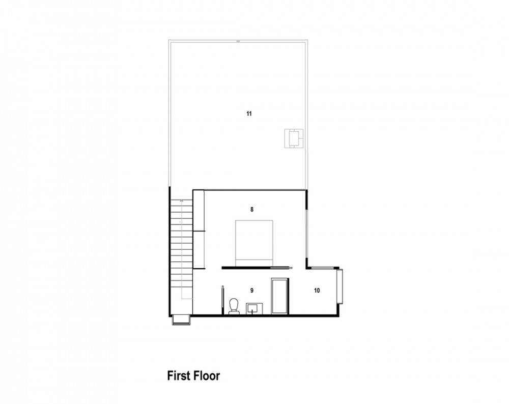 Bonnet Hill House - Dock4 Architecture first floor plan