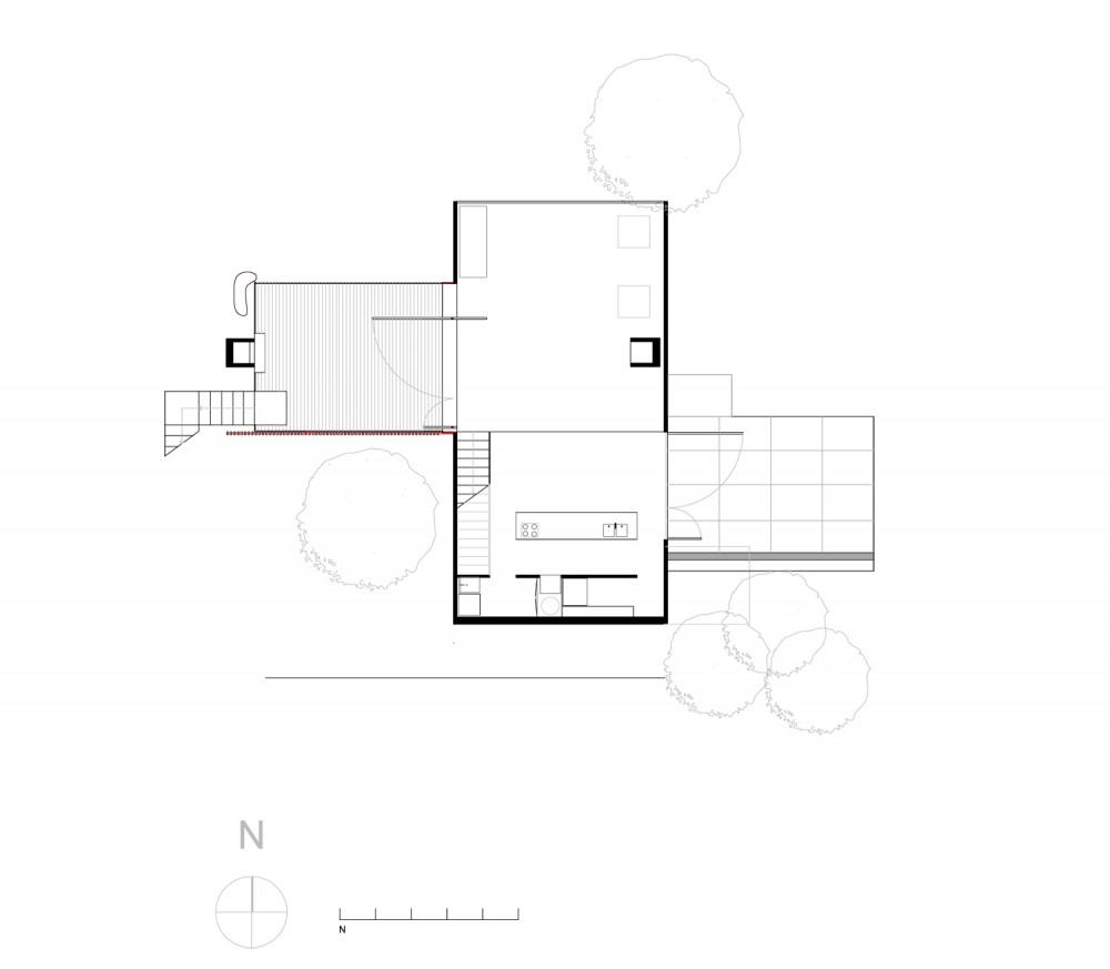 Bonnet Hill House - Dock4 Architecture ground floor plan