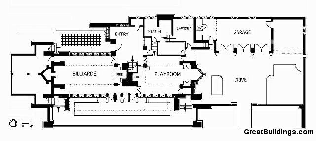Architecture photography plan2 60257 Frank lloyd wright house floor plans