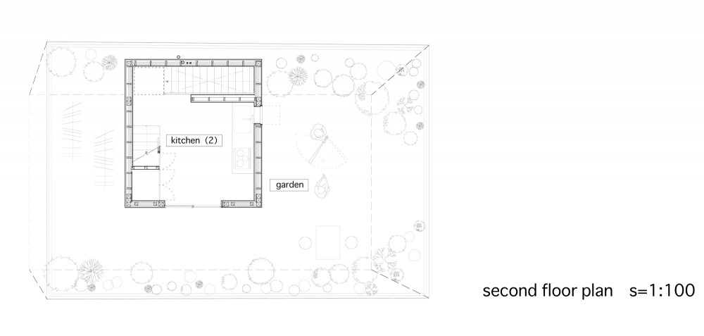 Between - Katsuhiro Miyamoto & Associates second floor plan