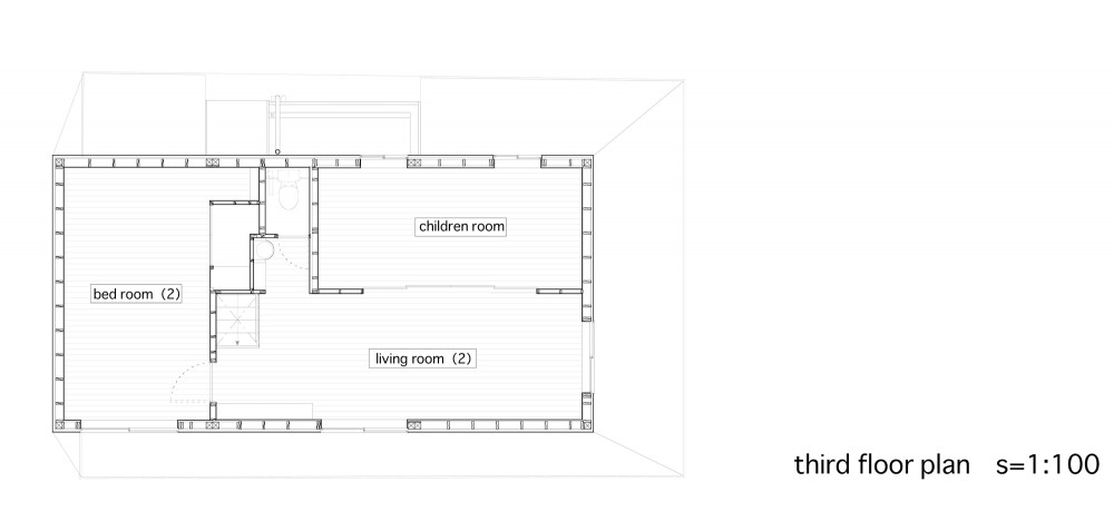 Between - Katsuhiro Miyamoto & Associates third floor plan