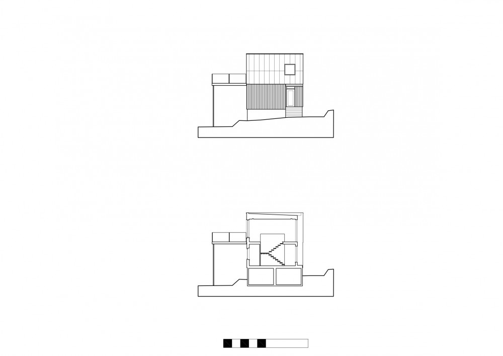 Plastic House - Unit Arkitektur AB elevation & section