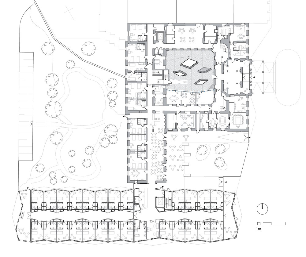 Architecture photography ground floor plan 61159 Nursing home architecture