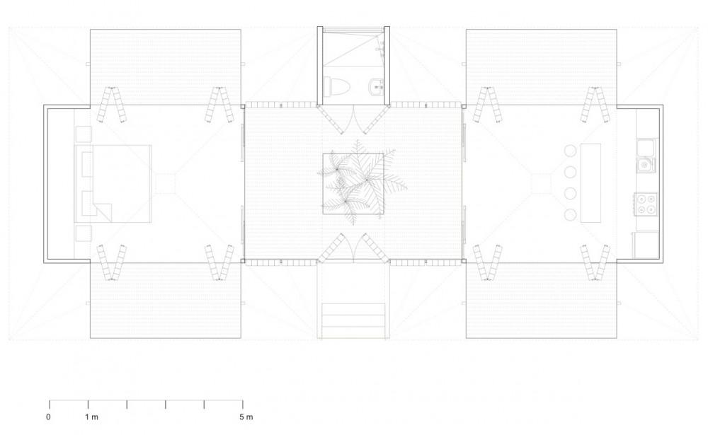 House - A forest for a Moon Dazzler - Benjamin Garcia Saxe floor plan