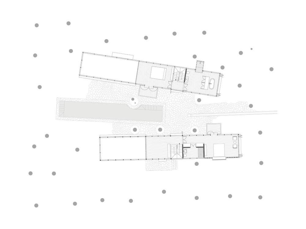 Palmyra House - Studio Mumbai first floor plan