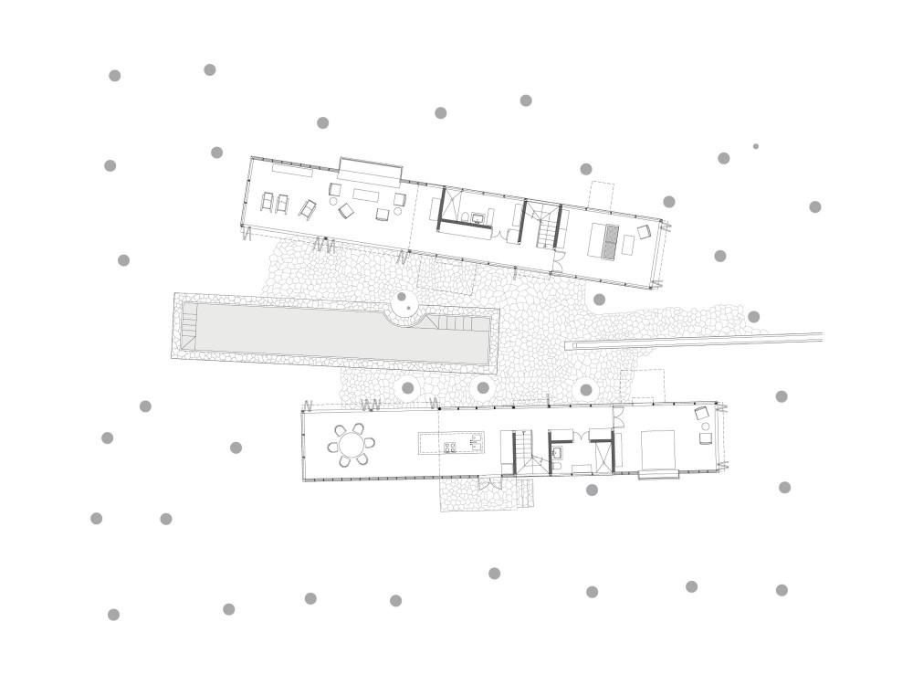 Palmyra House - Studio Mumbai ground floor plan
