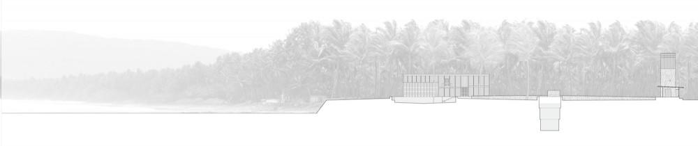 Palmyra House - Studio Mumbai site section