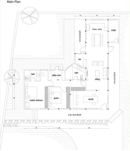 L Shaped Master Bathroom Layout: Nel Sedone / EarthStudio