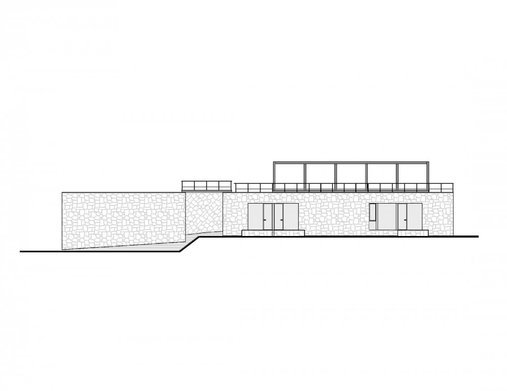 House in the Woods - Parque Humano pool area elevation
