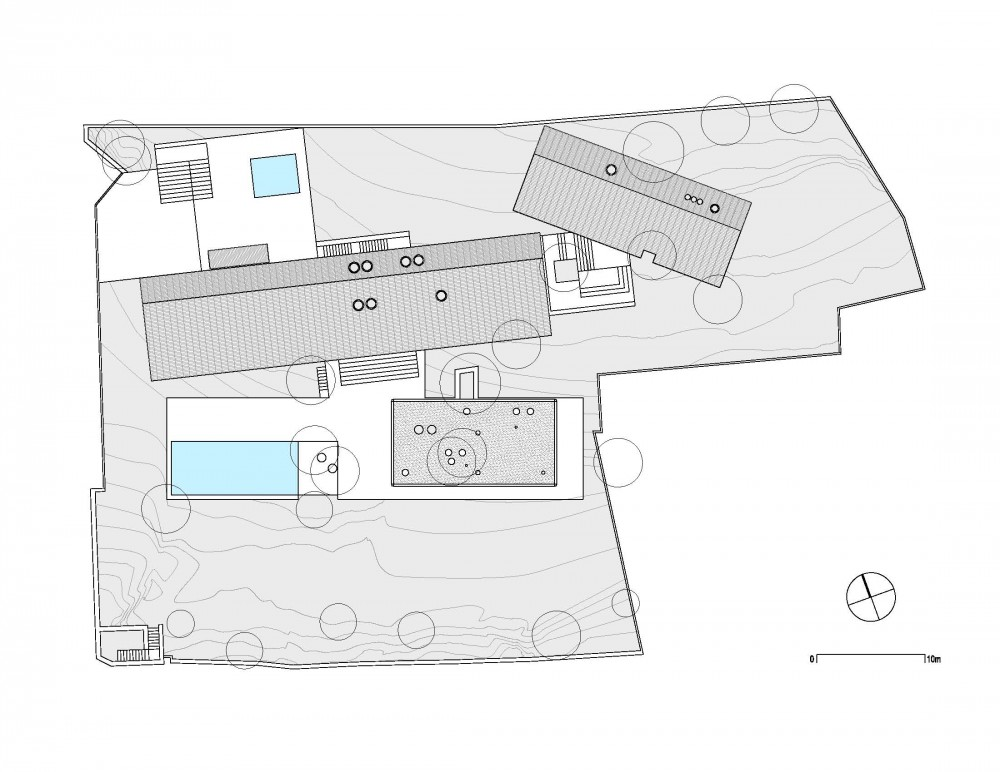 House in the Woods - Parque Humano roof plan
