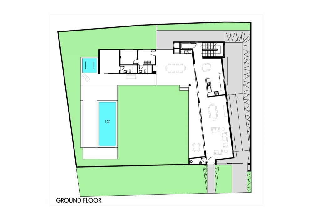 House - Casa GB - MMEB Architects ground floor plan