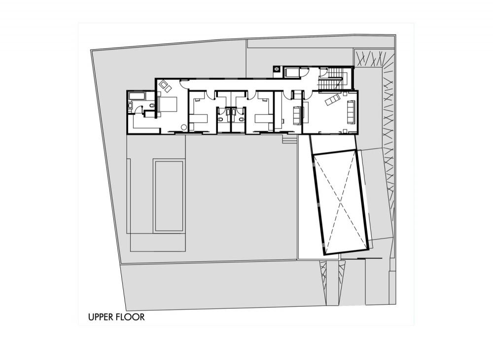 House - Casa GB - MMEB Architects upper floor plan