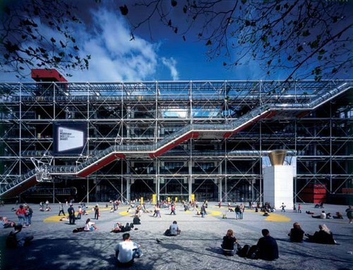 Ad classics centre georges pompidou renzo piano for Architecture high tech