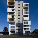 Проект Siloetten.  Дания.  Белый дом в стиле Тетрис.