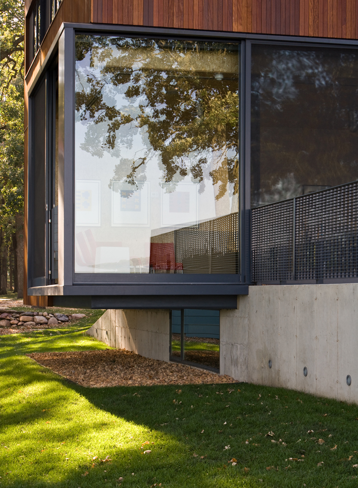 House on Lake Okoboji / Min | Day © Paul Crosby Architectural Photography