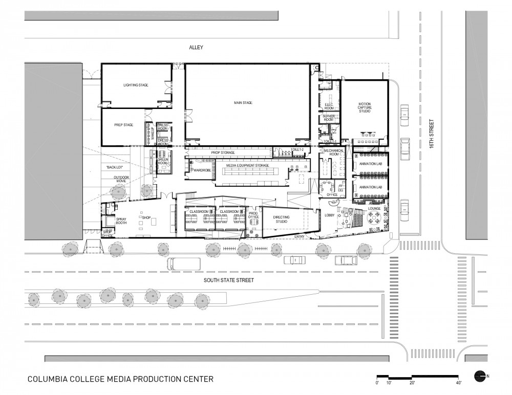 Architecture photography columbia college chicago media for Media center plans