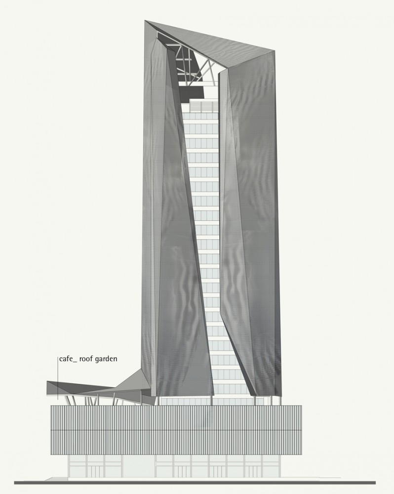 Piraeus Tower competition proposal / Petra Architects and Papaioannou + Associates