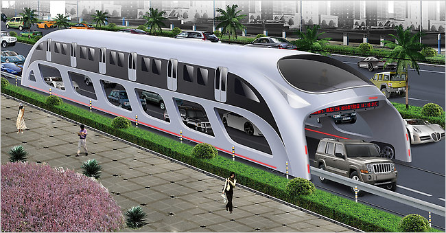Straddling Bus / Shenzhen Huashi Future Parking Equipment