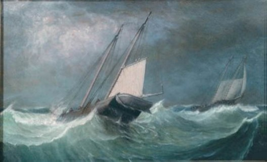 Fitz Henry Lane, &quot;A Smart Blow (Rough Sea, Schooners),&quot; 1856 via The New England Journal of Aesthetic Research  
