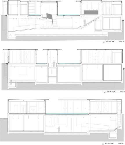 Sections © Steven Holl Architects