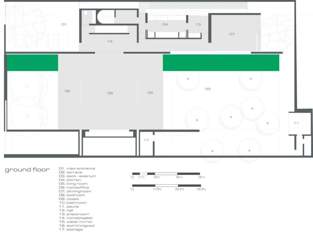 Media for mirindaba house openbuildings for Marcio kogan plans