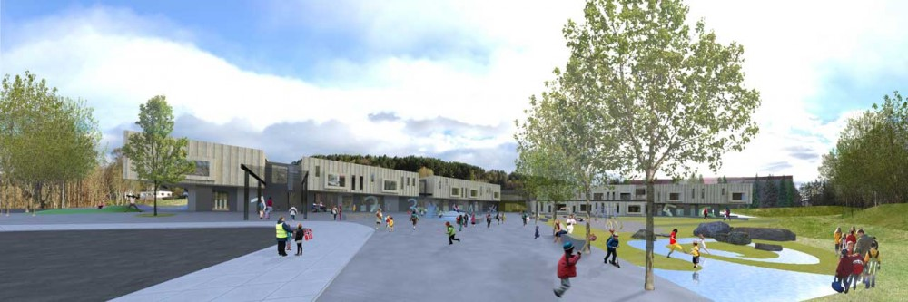 New Nørvasund School Competition entry / Various Architects + Kant Arkitekter + Grindaker Landksapsarkitekter